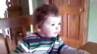 Little Boy Saying Bird