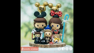Star Wars X Disney Inspired Family Inspired Custom Handmade Wedding Cake Topper Figurines P2