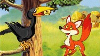 """""""Ворона и Лисица"""" Веселые сказки для детей. Сказки народов мира. Рассказы с красочными картинками HD"""