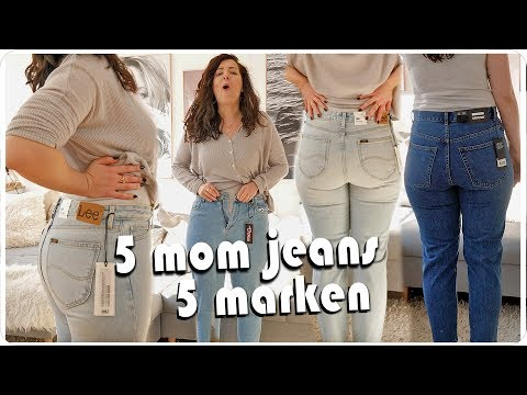 ich teste LIVE 5 Mom Jeans in Größe 42 von günstig bis teuer - Size Inbetweenie