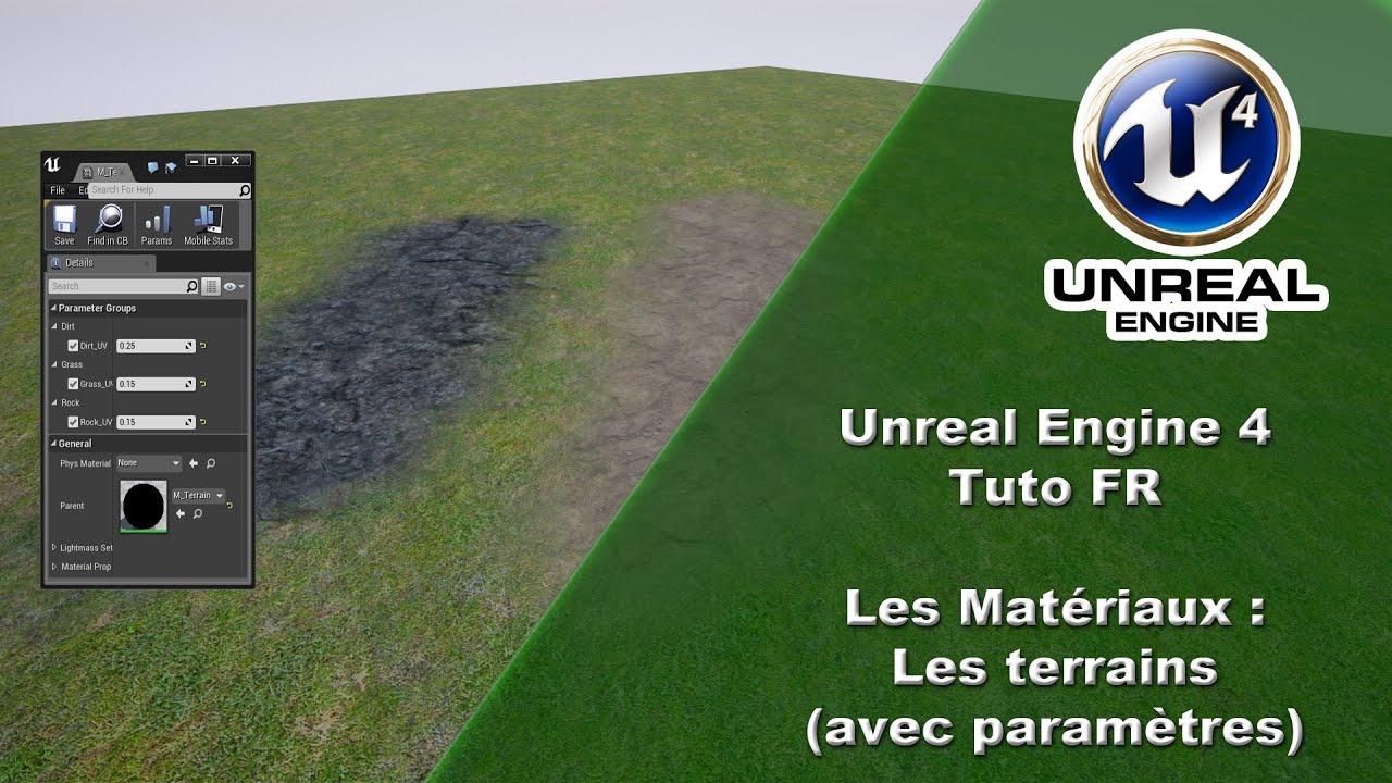 [UE4 TUTO FR] Materiel - Peindre un terrain