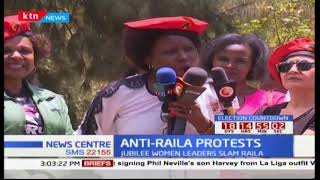Jubilee women hold anti-Raila protests accusing him of demeaning women