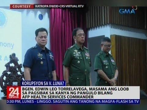 [GMA]  24 Oras: B/Gen. Edwin Leo Torrelavega, masama ang loob sa pagsibak sa kanya ng pangulo