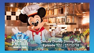 Deluxe Disney Dining Plan Information | 11/12/18