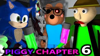 PIGGY CHAPTER 6 vs BALDI & SONIC! ROBLOX SPEEDRUNNER CHALLENGE! HOSPITAL horror Minecraft Animation
