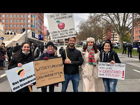 Антикарантинные протесты в Висбадене. Кого в Германии называют фашистами