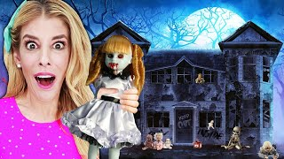 Surviving GAME MASTER in the MOST HAUNTED DOLLHOUSE! (Escape Room Trap)