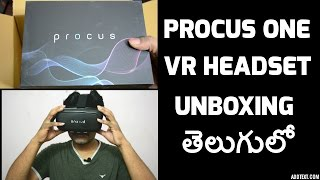 procus one VR headset unboxing telugulo