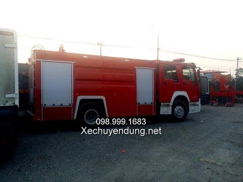 Xe chữa cháy 7 khối howo 6m3 nước 1m3 bọt
