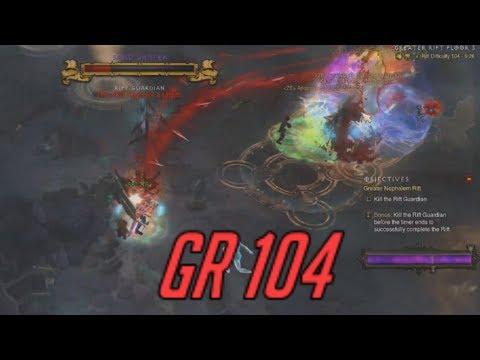[Diablo 3] Season 11 GRift 104 4man (rank 1) Necro DPS