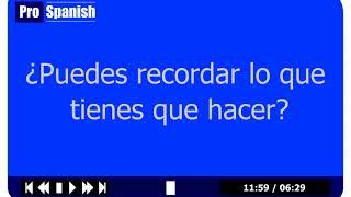 Learn Spanish - Lesson 1 Level 2