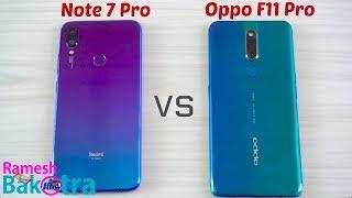 Oppo F11 Pro vs Redmi Note 7 Pro SpeedTest and Camera Comparison