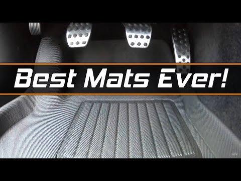 Black 3D MAXpider Complete Set Custom Fit All-Weather Floor Mat for Select Dodge Challenger Models Kagu Rubber