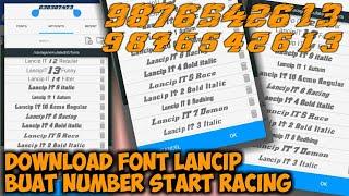 Download Font Lancip Number Start Racing Part 1 | BAGI-BAGI