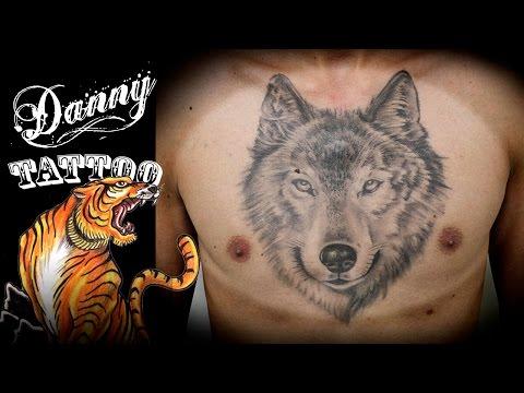 Tatuagem Lobo - Danny Tattoo (Wolf Tattoo) TimeLapse