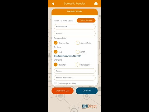 Submit Domestic Transfer   BNIDirect Mobile