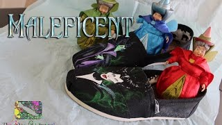 Maleficent Custom Painted TOMS | DisneyDIY | The Dan-O Channel