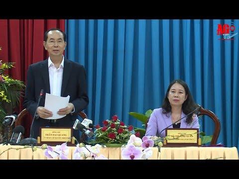 Chủ tịch nước Trần Đại Quang đến thăm và làm việc tại An Giang