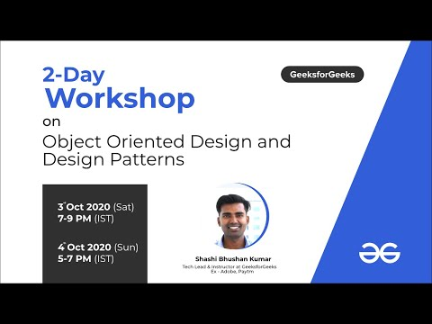 Introductions to Object Oriented Design and Design Patterns | Live ...