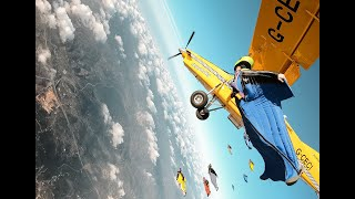 World Record – Airplane Wingsuit Formation – with Daniel Ossio – Skydive Seven