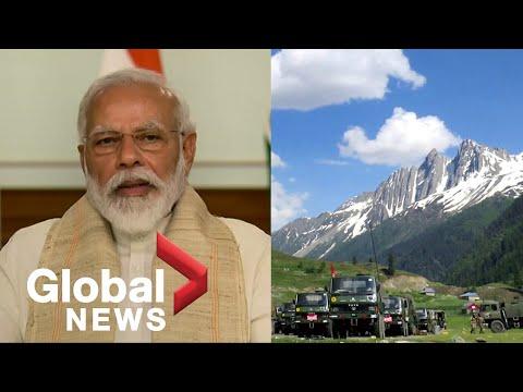 भारतीय प्रधानमंत्री मोदी चीनी सैनिकों के साथ घातक सीमा संघर्ष का जवाब