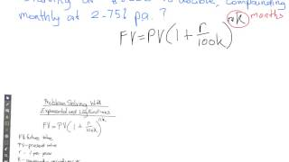 Problem Solving with Exponents and Logs