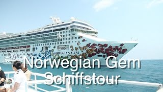 Norwegian Gem: Exklusive Schiffstour