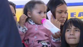 Part of migrant caravan reaches U.S.-Mexico border