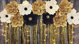 Birthday Party Decoration Ideas At Home | Very Easy Paper Flower Backdrop For Any Occasion At Home