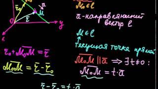 §48 Векторное уравнение прямой в пространстве