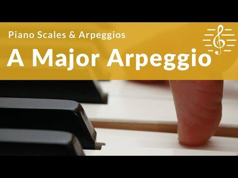 Grade 3 Piano Scales & Arpeggios - A Major Arpeggio