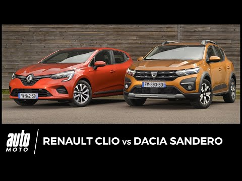 Essai Renault Clio vs Dacia Sandero : laquelle choisir ?