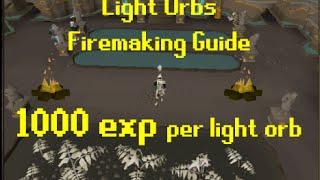 Fast Light Orb Firemaking Guide | Old School Runescape