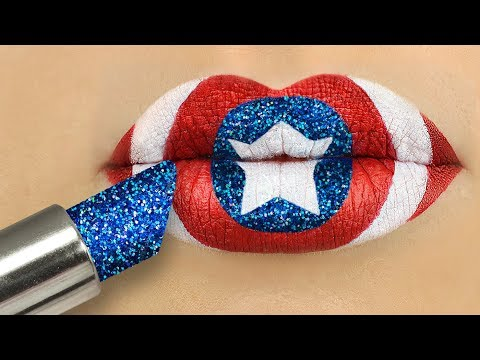 8 DIY Weird Makeup Ideas / Avengers Makeup Tutorial