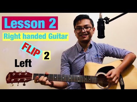 Guitar Lessons for lefties (Right handed Guitar Flip to Left) - Lesson 2