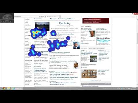 Google & Web Search Interaction Eye Tracking Demo - Heatmap