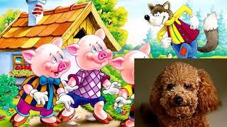 Мультики для детей - 3 поросенка, сказка- рассказывает забавный щенок Гав,  развивающий мультфильм