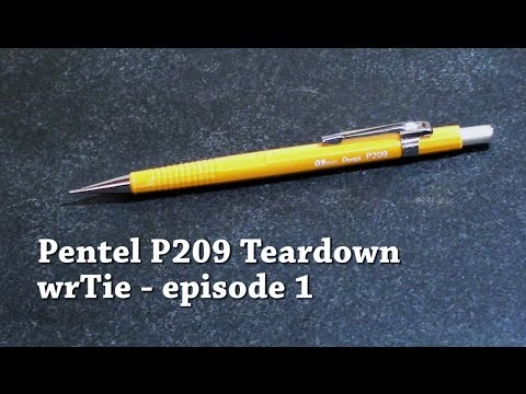 Pentel P209 Mechanical Pencil Teardown
