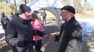 Литва жесткий разговор(  Националист vs русского жителя