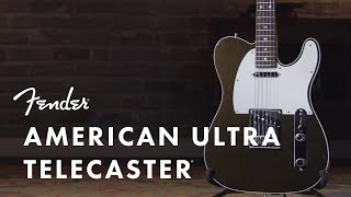 Fender American Ultra Telecaster - RW TXT Video