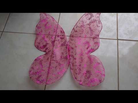 Como hacer alas para disfraz de mariposa. Las Manos Magicas De Mirna.