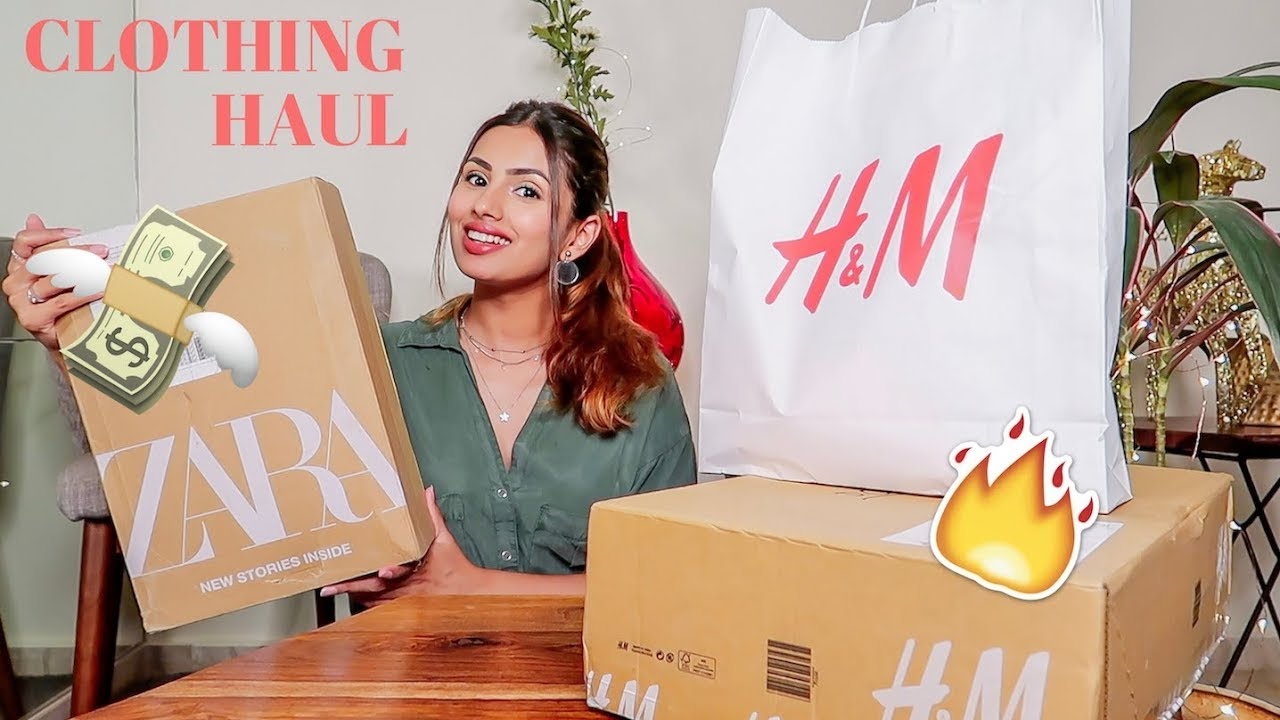 ZARA and H&M HAUL 🛍 | Aashna Hegde - 201Tube tv