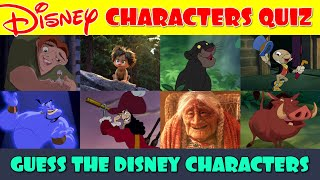 Guess the Disney Characters Quiz (Part 1)