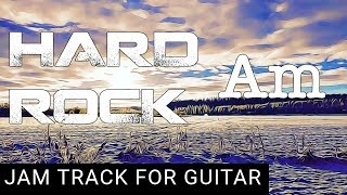 Slow Hard Rock Backing Track for Guitar in A minor (Am)