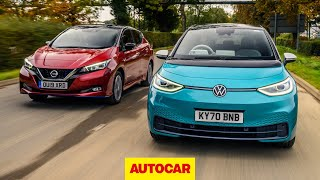 Volkswagen ID 3 v Nissan Leaf review | which is the best new EV? | Autocar by Autocar
