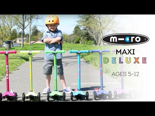 Micro Maxi DELUXE Scooters for Kids |  Ian Powell Films