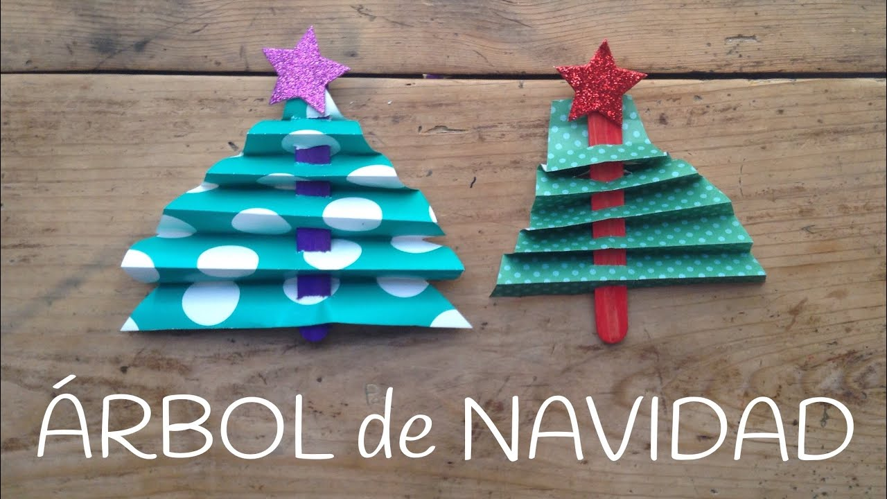ÁRBOL DE NAVIDAD con palitos | Manualidades de Navidad para niños