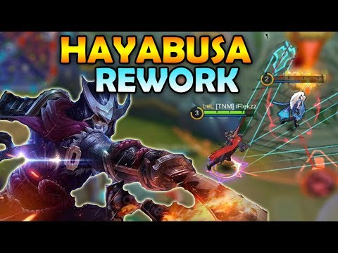 FULL DAMAGE BUILD REWORKED HAYABUSA IS SO STRONG! MOBILE LEGENDS GAMEPLAY