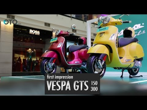 First Impession Vespa GTS 150 dan 300