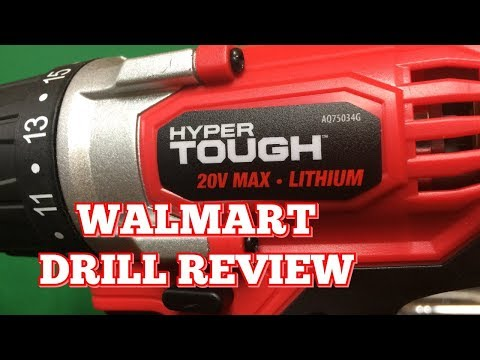 Hyper Tough 20 Volt Drill Review | The Walmart Drill!